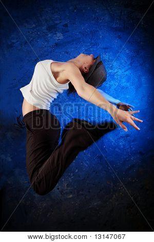 Shot of a modern female dancer.