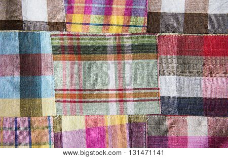 Striped loincloth fabric for background and texture.