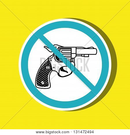 weapons ban design, vector illustration eps10 graphic