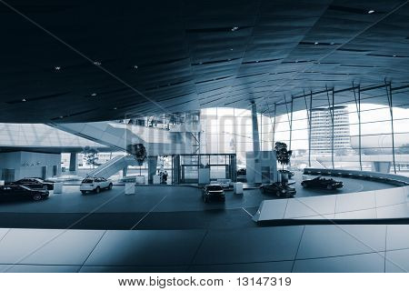 Interior moderno de alta tecnología.