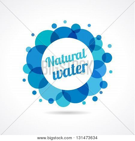 Natural water logo. Mineral water drop logo design vector template