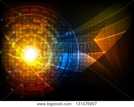Abstract futuristic digital technology background, vector illustration