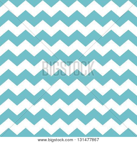 Tile chevron vector pattern with pastel mint green and white zig zag background