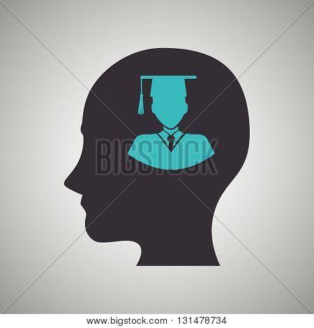 thinking profile design, vector illustration eps10 graphic