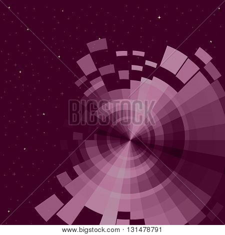 abstract space background with stars, vector illustration
