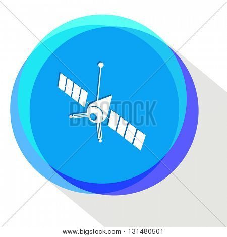 spaceship. Internet template. Vector icon.