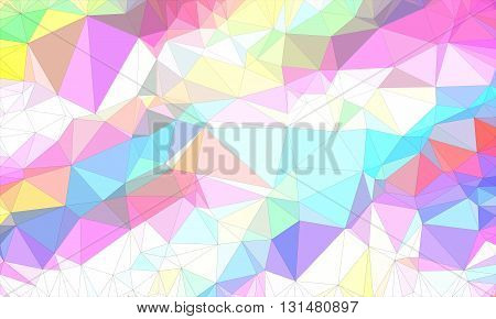 Low poly background design in geometric pattern. polygon in origami style. polygonal texture illustration in color white and pink and blue, purple, very colorful.