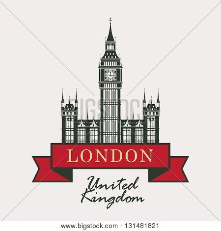 banner with Big Ben in London United Kingdom UK