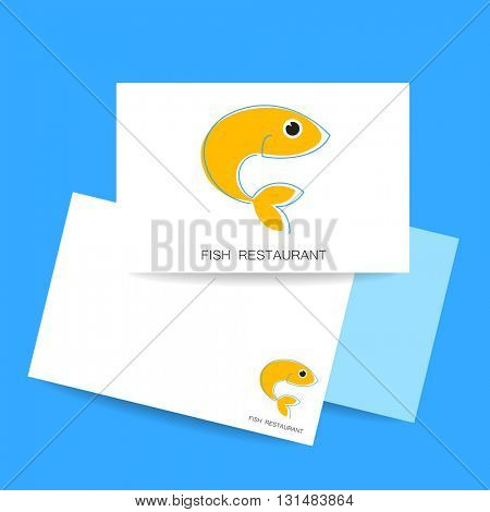 Seafood restaurant logo. Template for branding identity, fish restaurant, menu card, invitations, seafood restaurant, restaurant menu. Concept design.