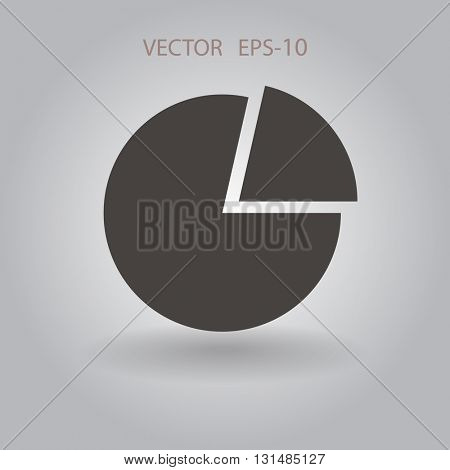 Flat icon of finance graph