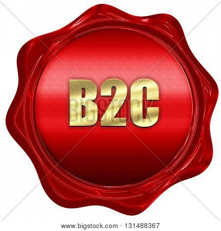 b2c, 3D rendering, a red wax seal