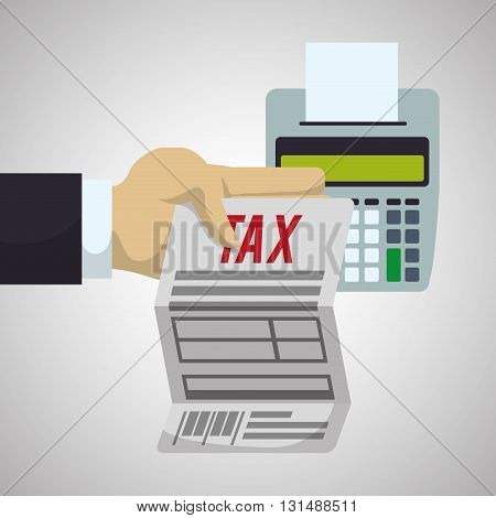 Tax concept with icon design, vector illustration 10 eps graphic.