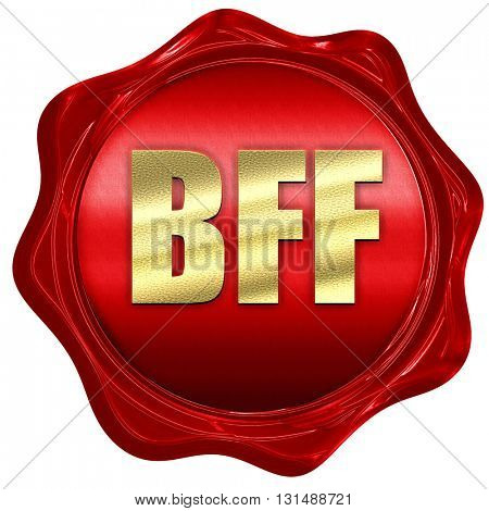 bff, 3D rendering, a red wax seal