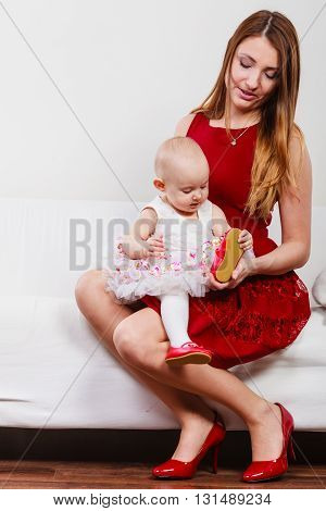 Beauty Mother With Toddler