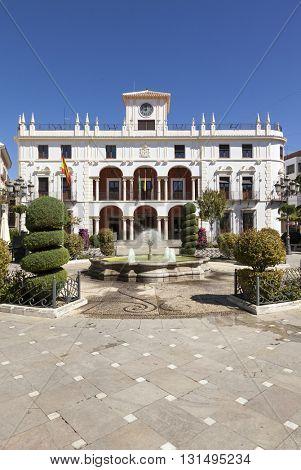 The city hall of Priego de Cordoba, Andalusia, Spain