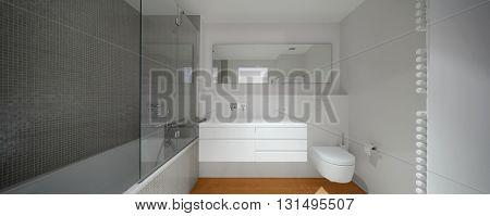 Interior of modern apartment, bathroom