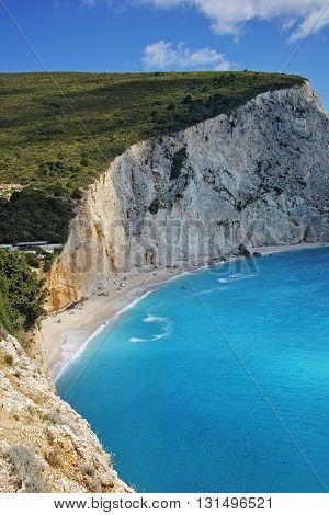 Amazing Landscape of Porto Katsiki Beach, Lefkada, Ionian Islands, Greece