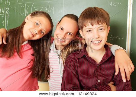 Educational theme:  children in a classroom.