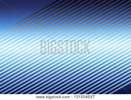 Abstract blue striped background. Illustration.