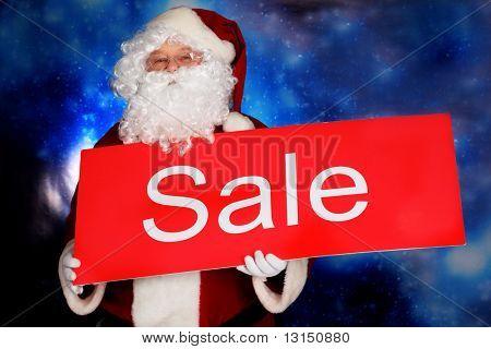 Thema Weihnachten: Santa Geschenke, schneebedeckten Design.