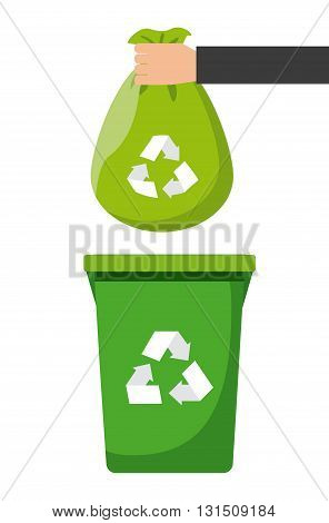 waste recycling design, vector illustration eps10 graphic
