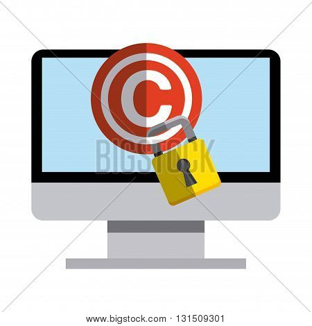 copyright  concept design, vector illustration eps10 graphic