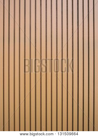 Brown Wood lath wall background and texture.