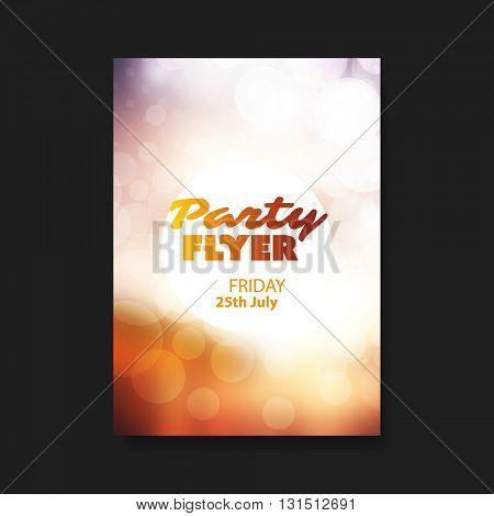 Party Flyer or Cover Design with Blurred Background
