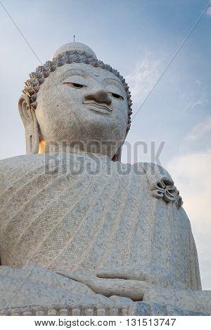 Big Marble Buddha Statue Phuket Island, Thailand