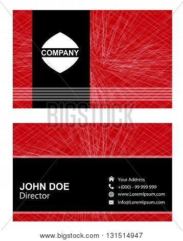 Business Card Template. Business Card design set