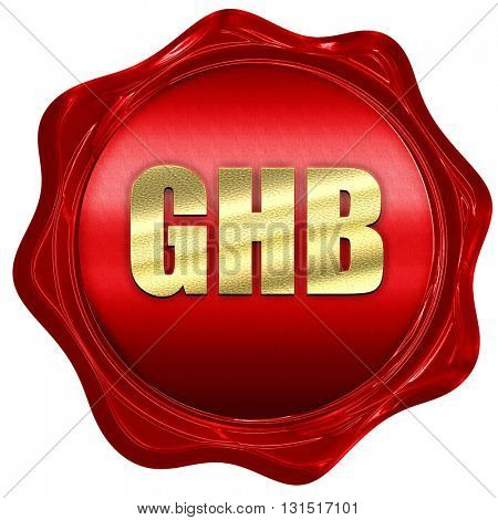 ghb, 3D rendering, a red wax seal
