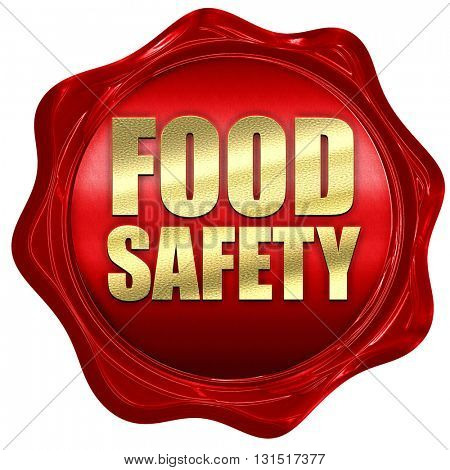 food safety, 3D rendering, a red wax seal