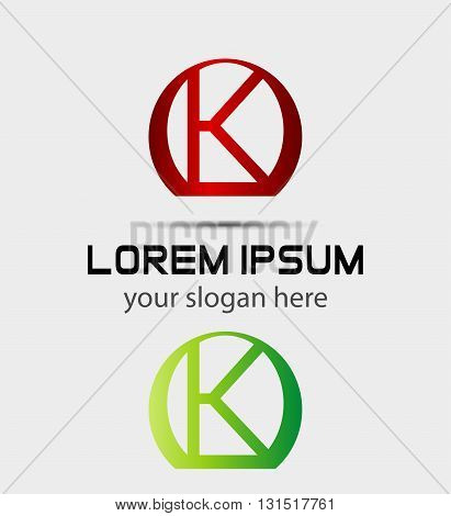 Letter k logo icon. Vector design template elements