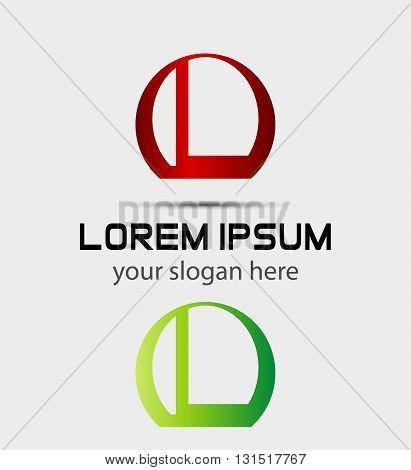 Letter L logo icon. Vector design template elements