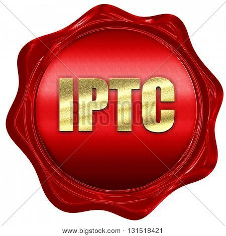 iptc, 3D rendering, a red wax seal