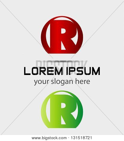 Letter r logo icon. Vector design template elements