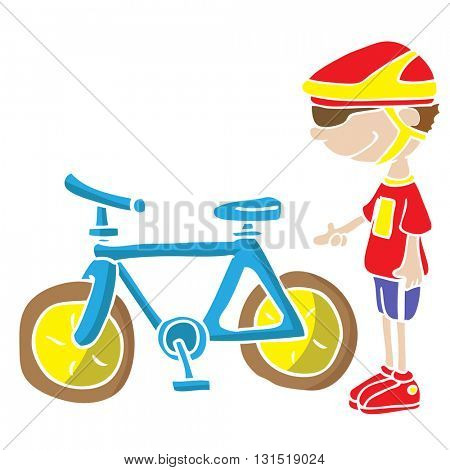 boy and his bicycle cartoon
