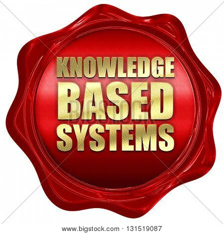 knowledge based systems, 3D rendering, a red wax seal