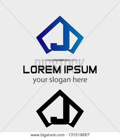 Letter J logo icon design template abstract