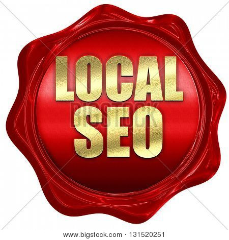 local seo, 3D rendering, a red wax seal