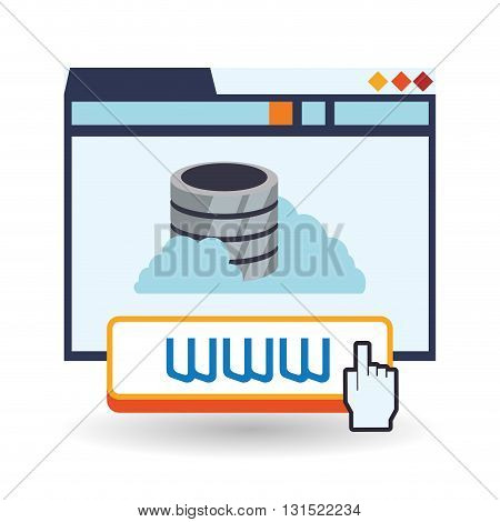 Cloud computing concept with icon design, vector illustration 10 eps graphic.
