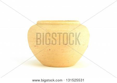 side view of earthenware isolated on white background