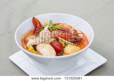 Tom Yum Kung Popular Cuisine Of Thailand