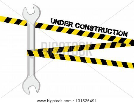 Vector sign under construction concept isolated background .