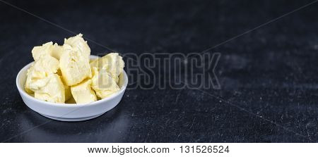 Butter On A Slate Slab (selective Focus)