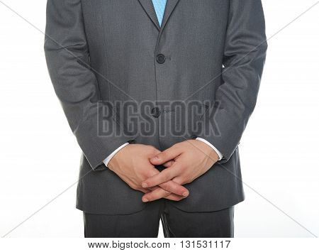 Man With Joined Hands