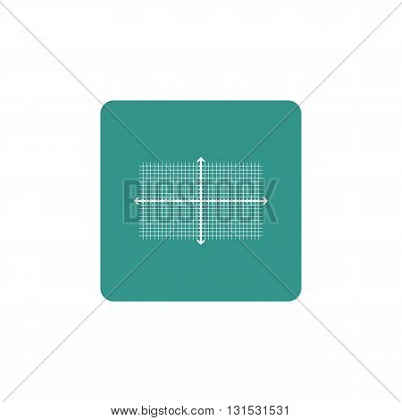 Rectangle Icon In Vector Format. Premium Quality Rectangle Symbol. Web Graphic Rectangle Sign On Gre