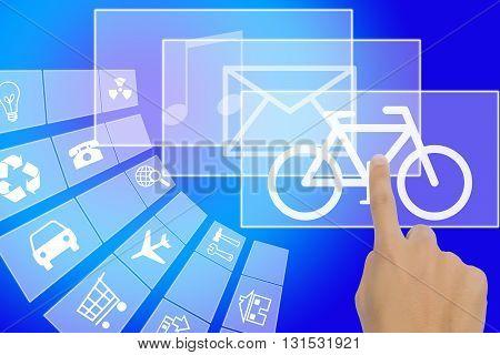 Finger Touching Digital Touch Screen technology media