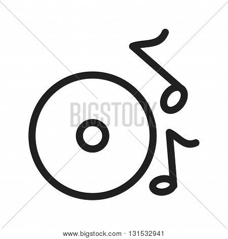 Music, cd, dvds icon vector image. Can also be used for music. Suitable for use on web apps, mobile apps and print media.