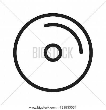 Disc, cds, dvd icon vector image. Can also be used for music. Suitable for web apps, mobile apps and print media.